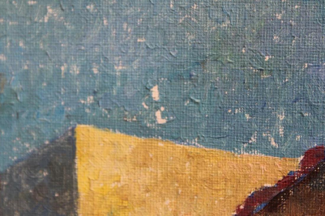 SCHAFFER, Rolly. Oil on Canvas. Village Scene. - 4