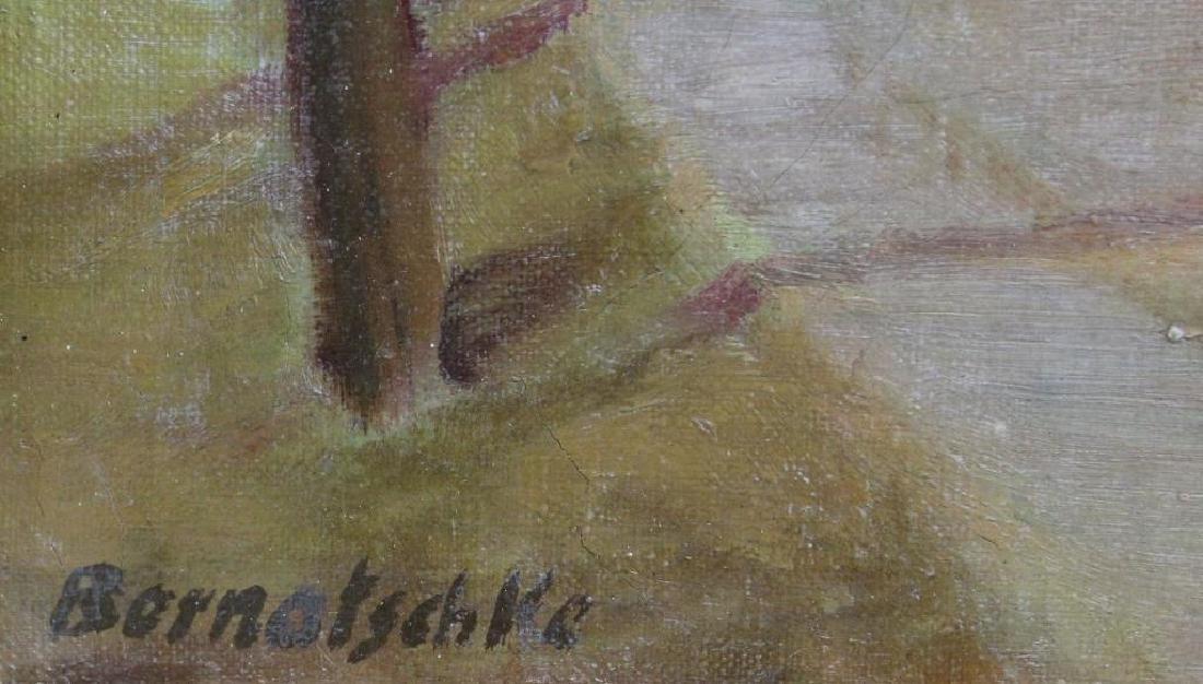 BERNATSCHKE. Oil on Canvas. Castle in Landscape. - 3