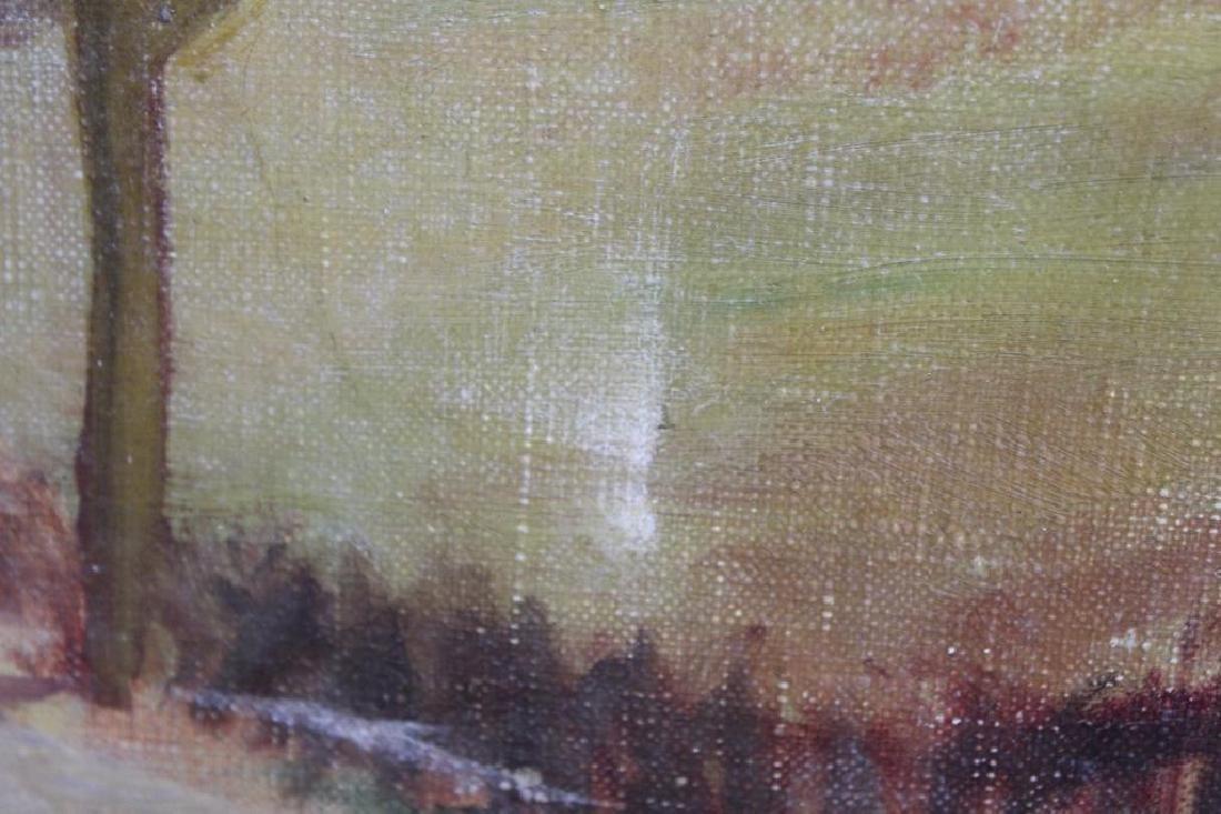 BERNATSCHKE. Oil on Canvas. Castle in Landscape. - 4