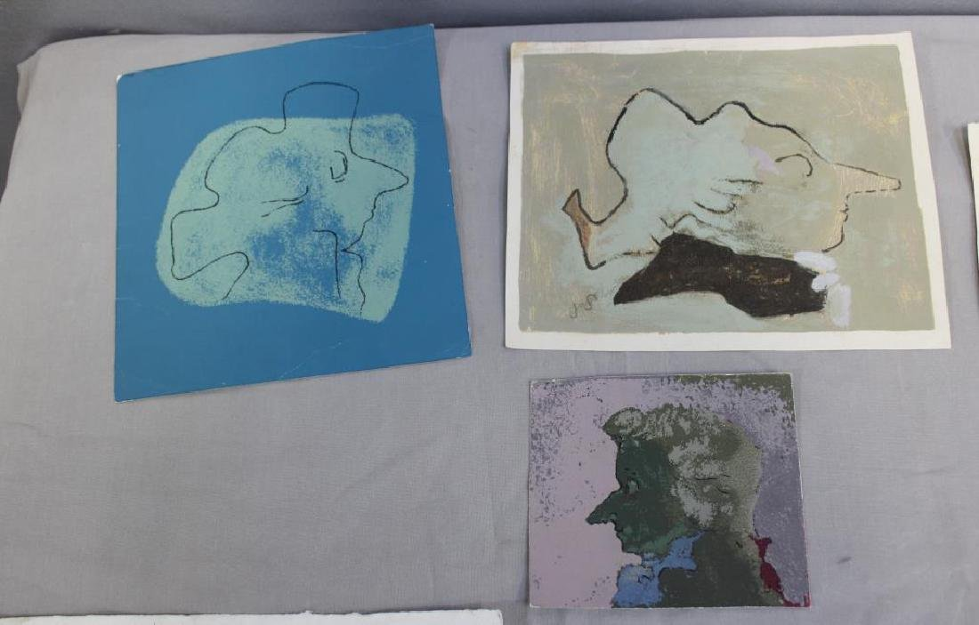 SOLMAN, Joseph. Lot of 6 Serigraphs. Abstractions. - 3