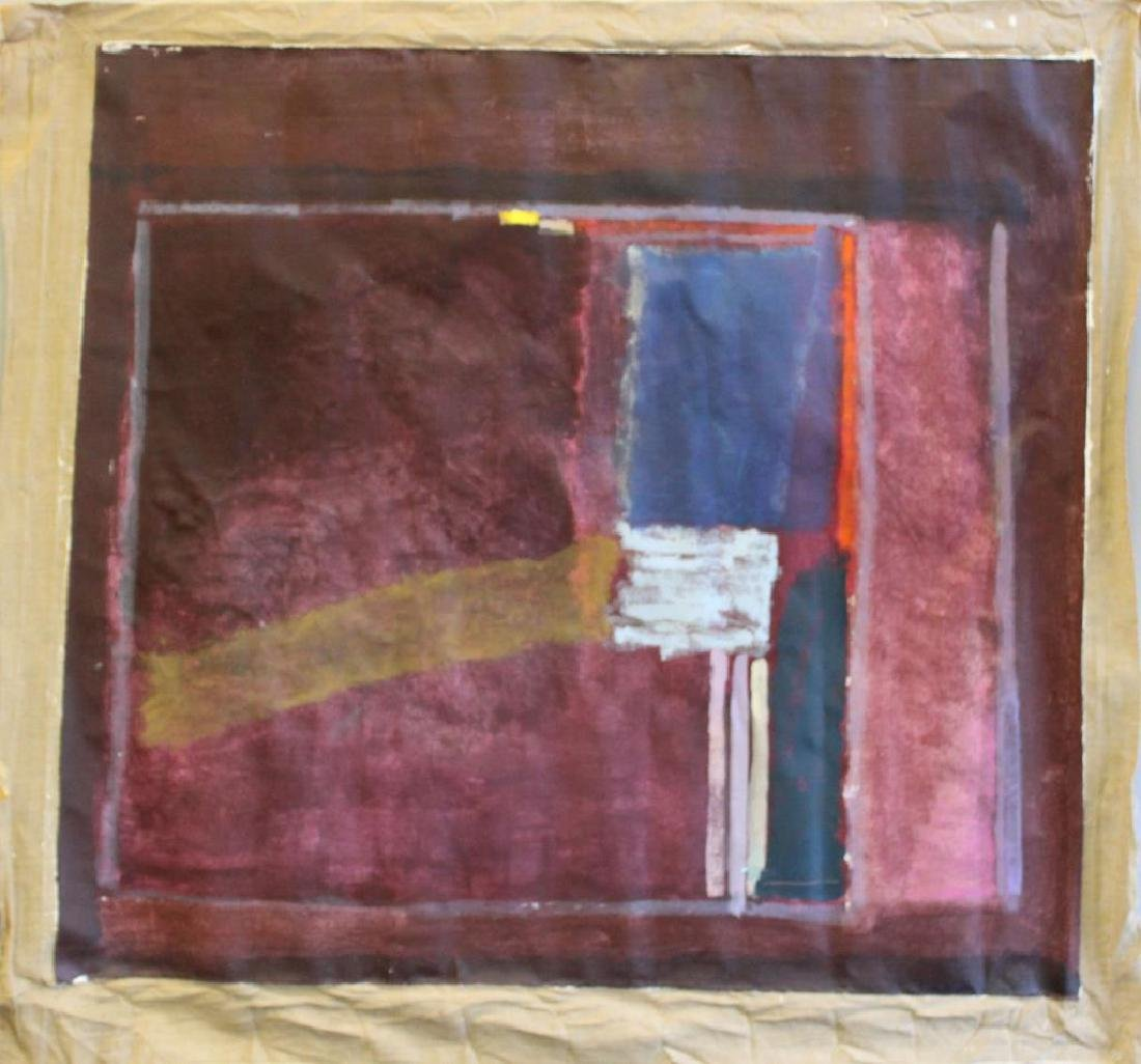 UNSIGNED. Large Unframed Midcentury Oil On Canvas