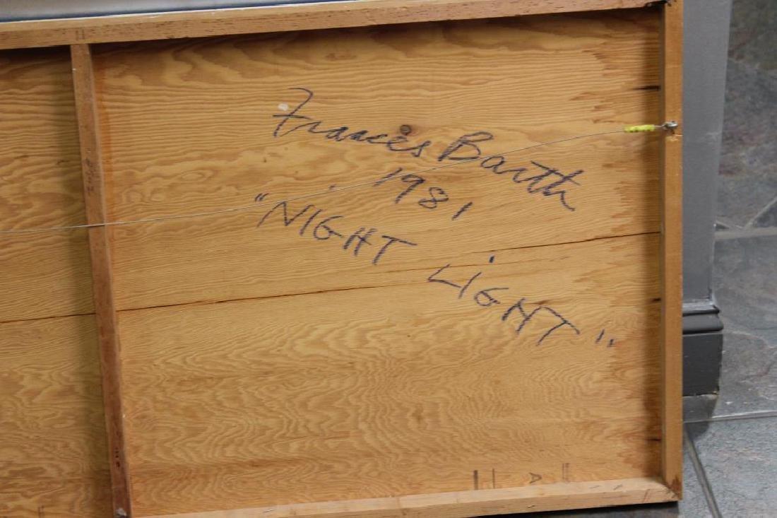 "BARTH, Frances. Mixed Media on Board. ""Night - 5"