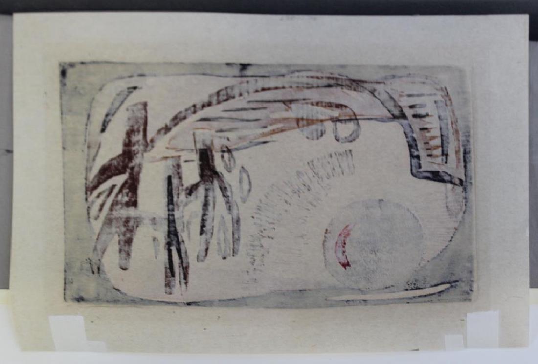 """HAAS, Hildegarde. Woodcut. """"Flaming Sky"""". 1947. - 5"""