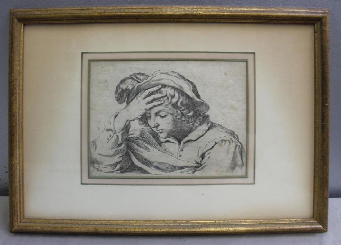 UNSIGNED. Engraving. Old Master Figure. - 2