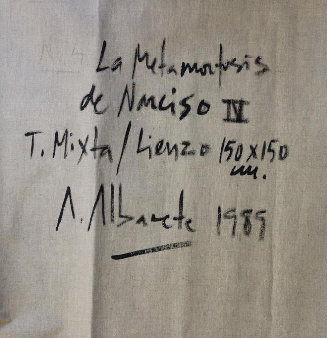 "ALBACETE, Alfonso. Oil on Canvas. ""La Metamorfosis - 5"