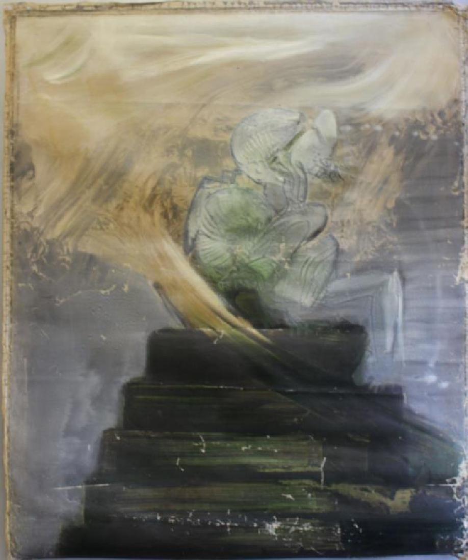 """ORELLANA, Gaston. Oil on Canvas. """"Hacia los"""