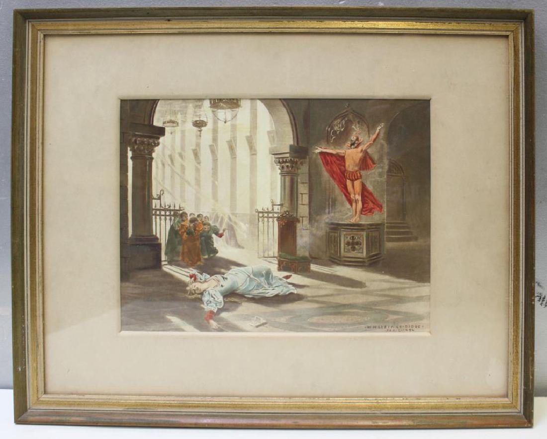 DE LEFTWICH-Dodge, W. Gouache. Fantasy Scene. 1896 - 2