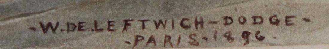 DE LEFTWICH-Dodge, W. Gouache. Fantasy Scene. 1896 - 3