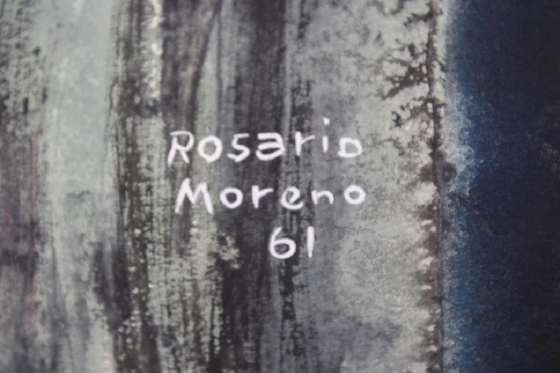 MORENO, ROSARIO. Oil on Paper. Abstract. 1961. - 3
