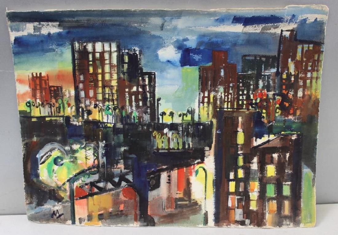 "MARZI. Oil on Paper. ""Bronx Epiphany (503)"". 1968. - 2"