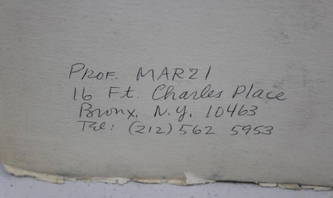 "MARZI. Oil on Paper. ""Bronx Epiphany (503)"". 1968. - 7"