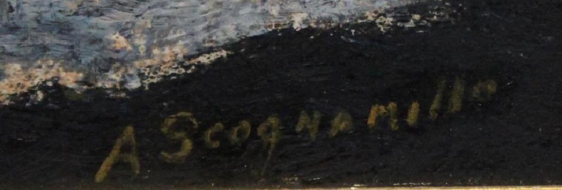 SCOGNAMILLO, A. Oil on Panel. Fishermen. - 3
