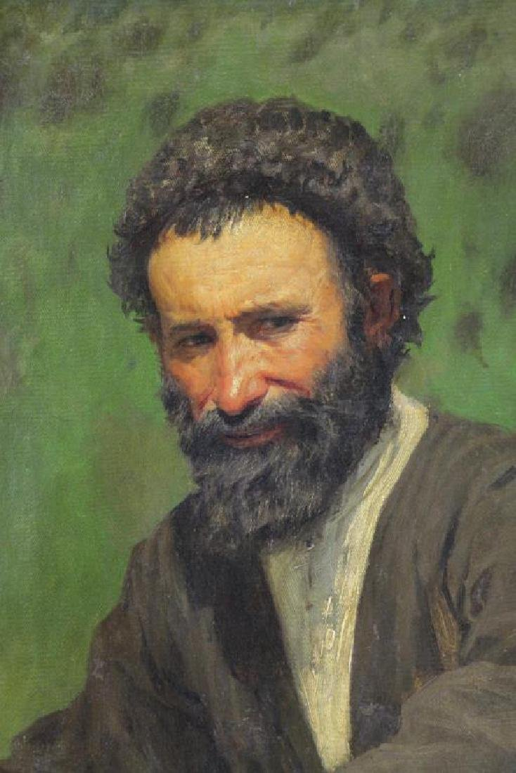YAROSHENKO, Nikolai. Oil on Canvas. Seated Peasant - 3