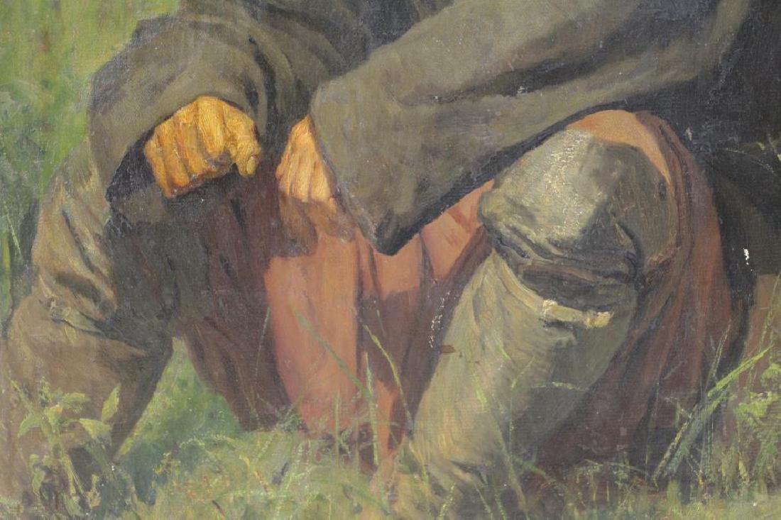 YAROSHENKO, Nikolai. Oil on Canvas. Seated Peasant - 4