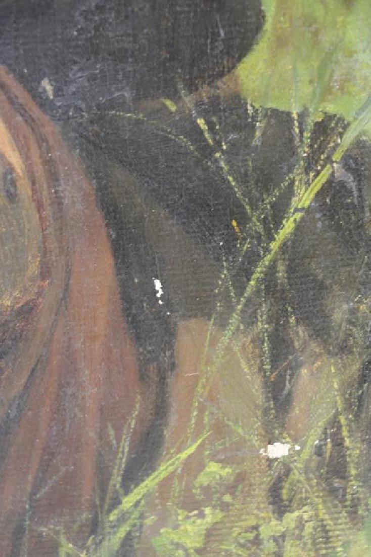 YAROSHENKO, Nikolai. Oil on Canvas. Seated Peasant - 6