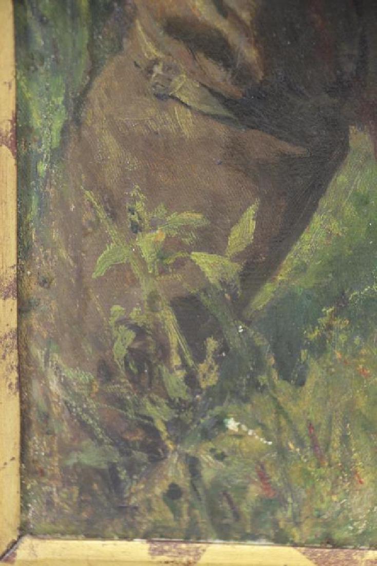 YAROSHENKO, Nikolai. Oil on Canvas. Seated Peasant - 8