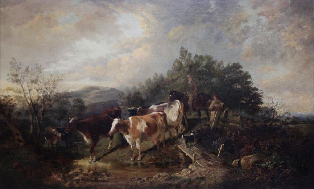 COOPER, Thomas Sidney. Oil on Canvas. Drovers