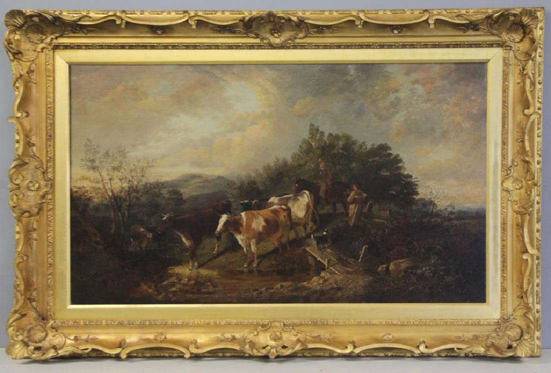 COOPER, Thomas Sidney. Oil on Canvas. Drovers - 2