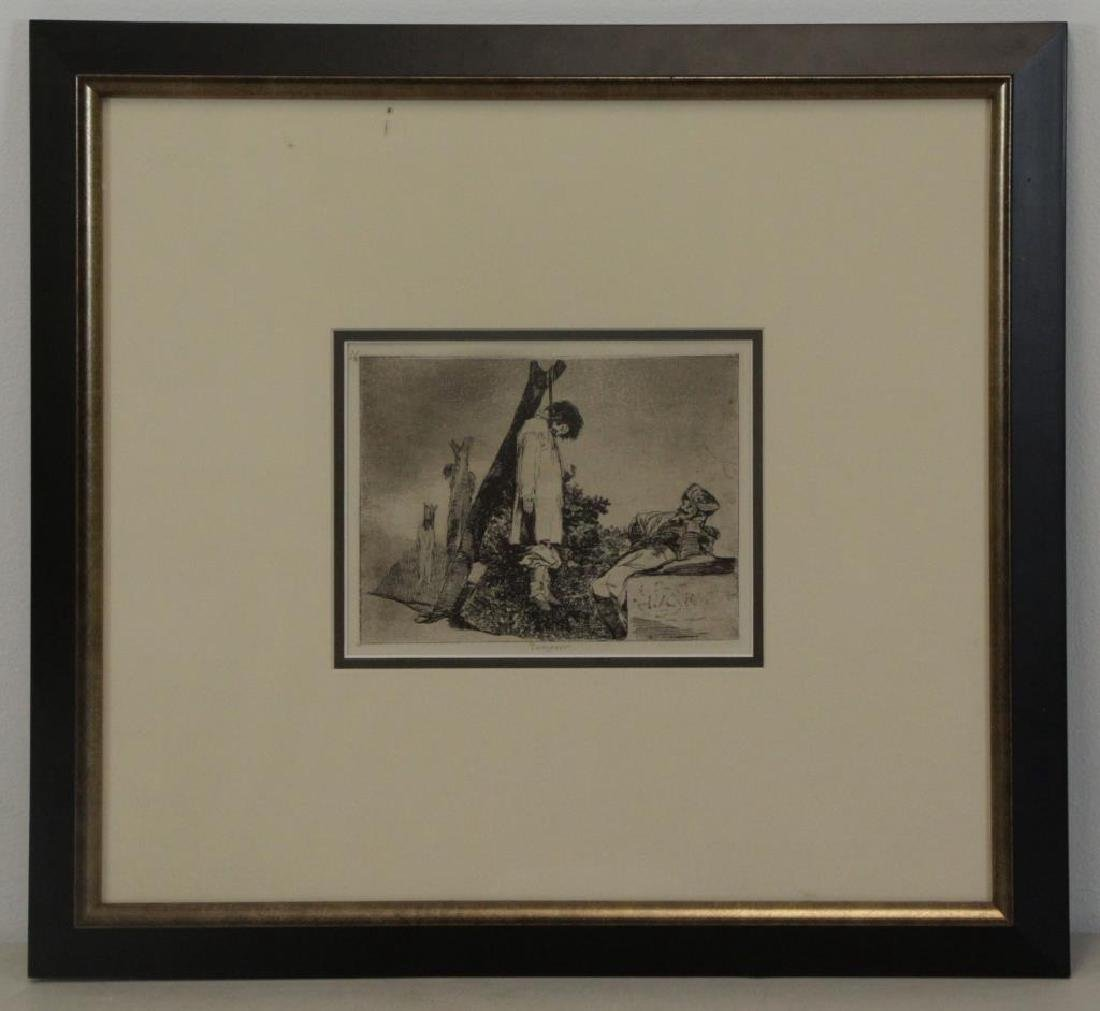 "GOYA, Francisco. Etching. ""Tampoco"" From Disasters - 2"