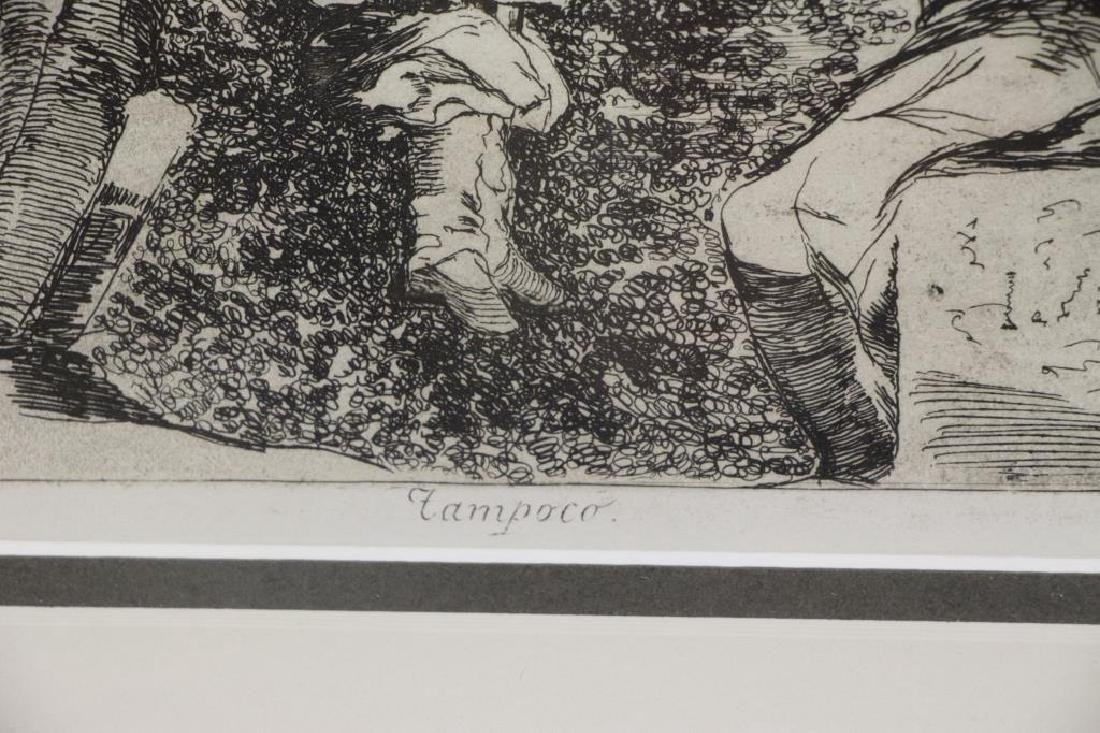 "GOYA, Francisco. Etching. ""Tampoco"" From Disasters - 4"