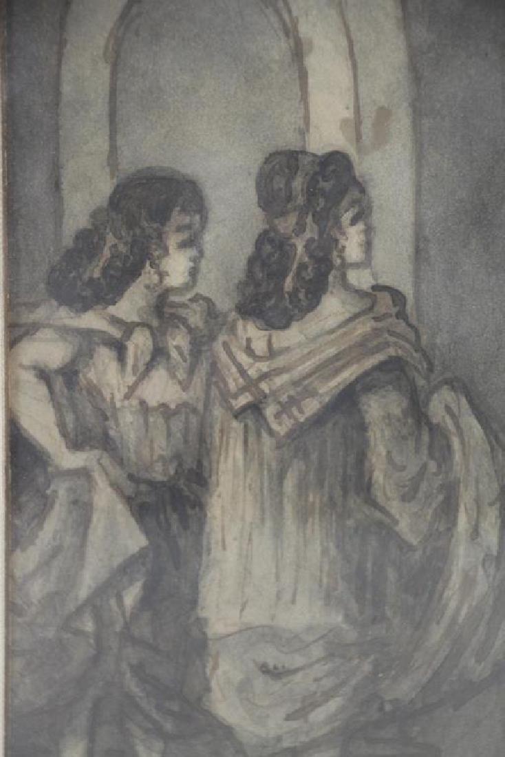 "GUYS, Constantin. Ink Wash. ""Filles et Marins"". - 3"