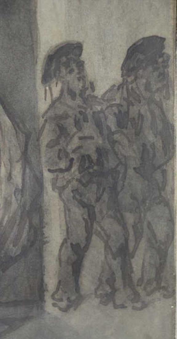 "GUYS, Constantin. Ink Wash. ""Filles et Marins"". - 4"
