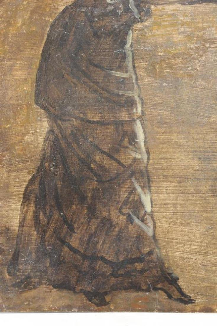 TISSOT, James. Double Sided Oil on Board Study. - 4
