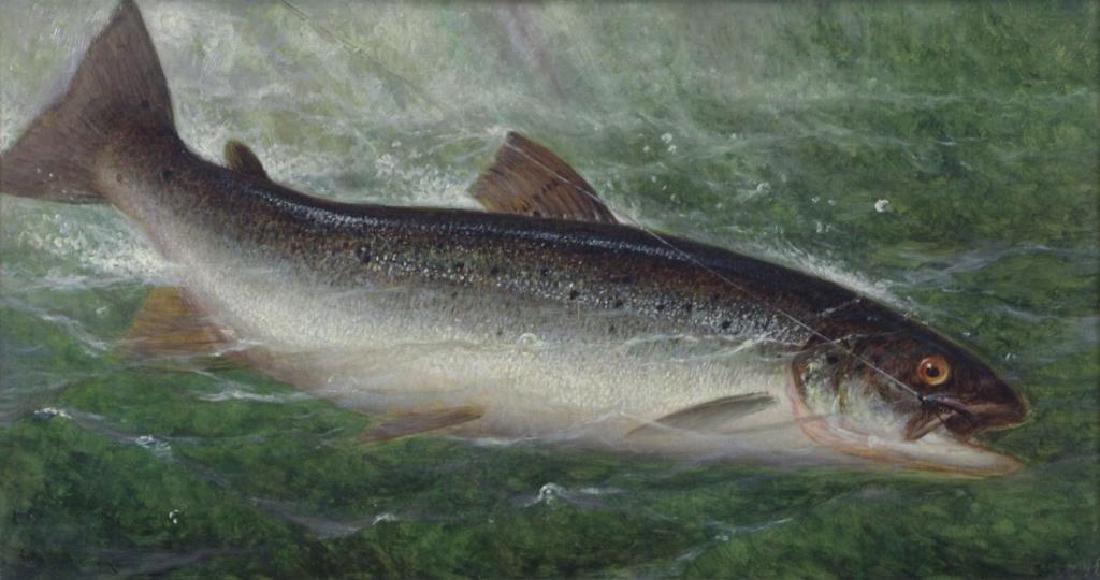 CARY, William De La Montagne. Oil on Canvas. Fish.