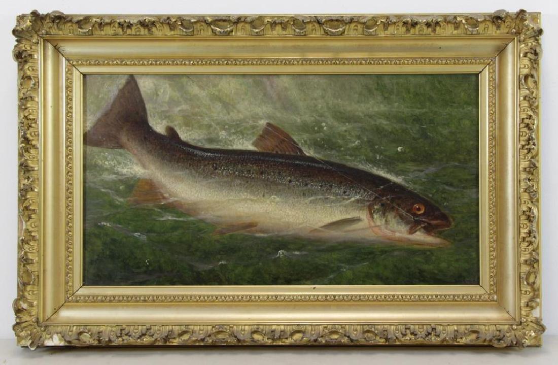 CARY, William De La Montagne. Oil on Canvas. Fish. - 2