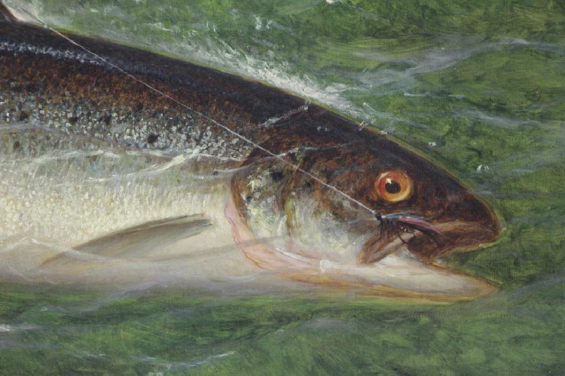 CARY, William De La Montagne. Oil on Canvas. Fish. - 3