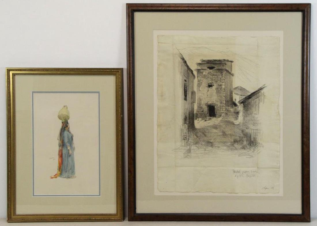 BACON, Henry. Two Works on Paper.