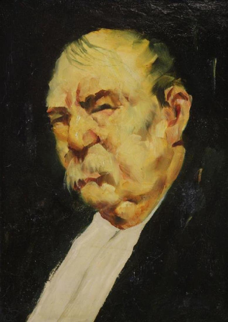 GRABACH, John. Oil on Board. Portrait of a Man.