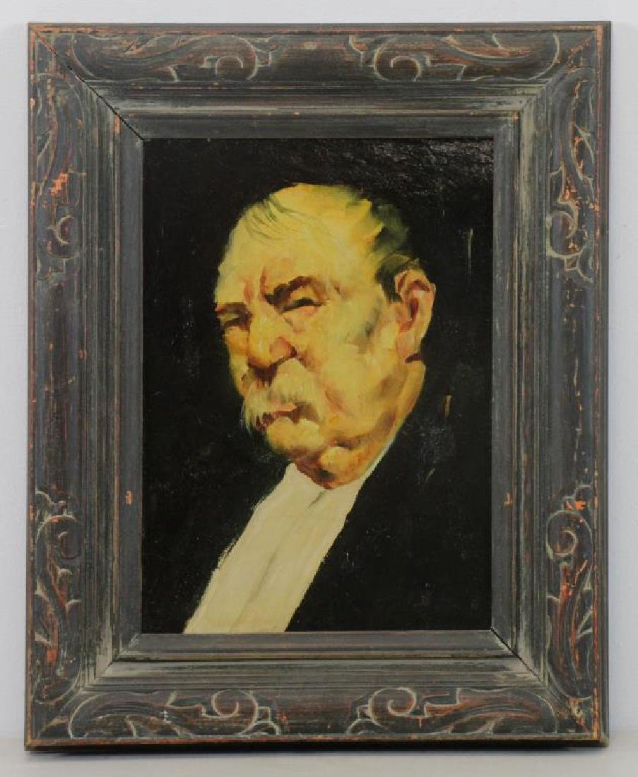 GRABACH, John. Oil on Board. Portrait of a Man. - 2