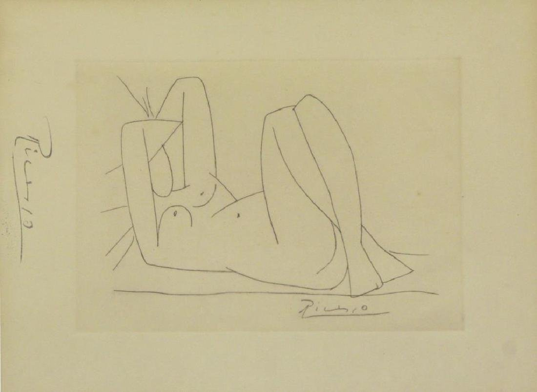 """After Picasso. Etching From """"Amitis de"""