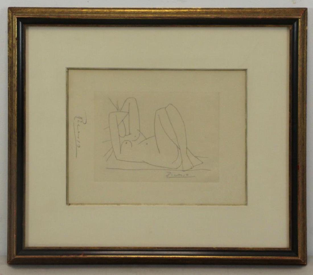 """After Picasso. Etching From """"Amitis de - 2"""