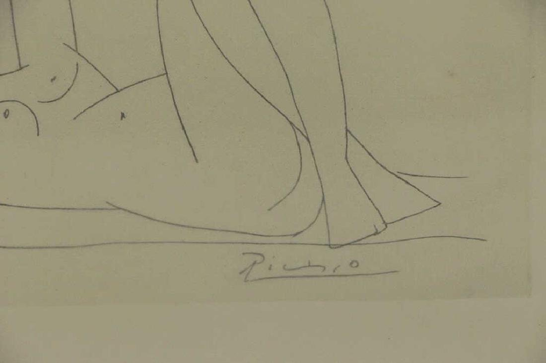 """After Picasso. Etching From """"Amitis de - 3"""