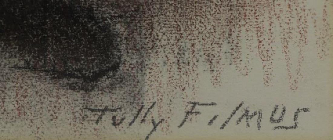 "FILMUS, Tully. Pastel on Paper. ""Mendele"". - 4"