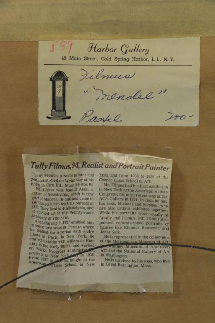 "FILMUS, Tully. Pastel on Paper. ""Mendele"". - 6"