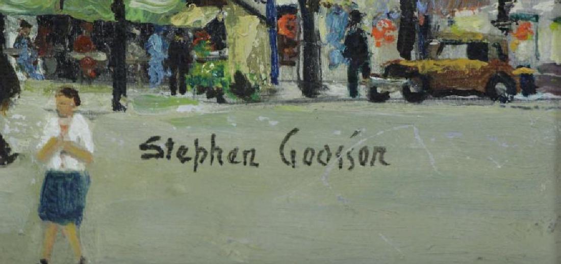 "GOOSSON, Stephen. Oil on Board. ""La Place Blanch - 5"