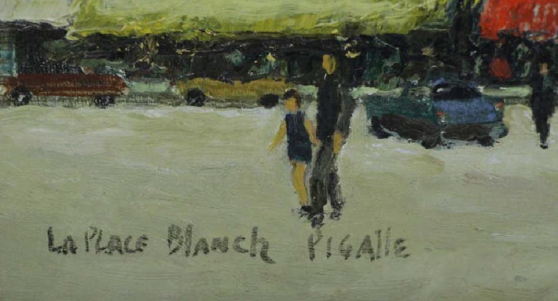 "GOOSSON, Stephen. Oil on Board. ""La Place Blanch - 6"