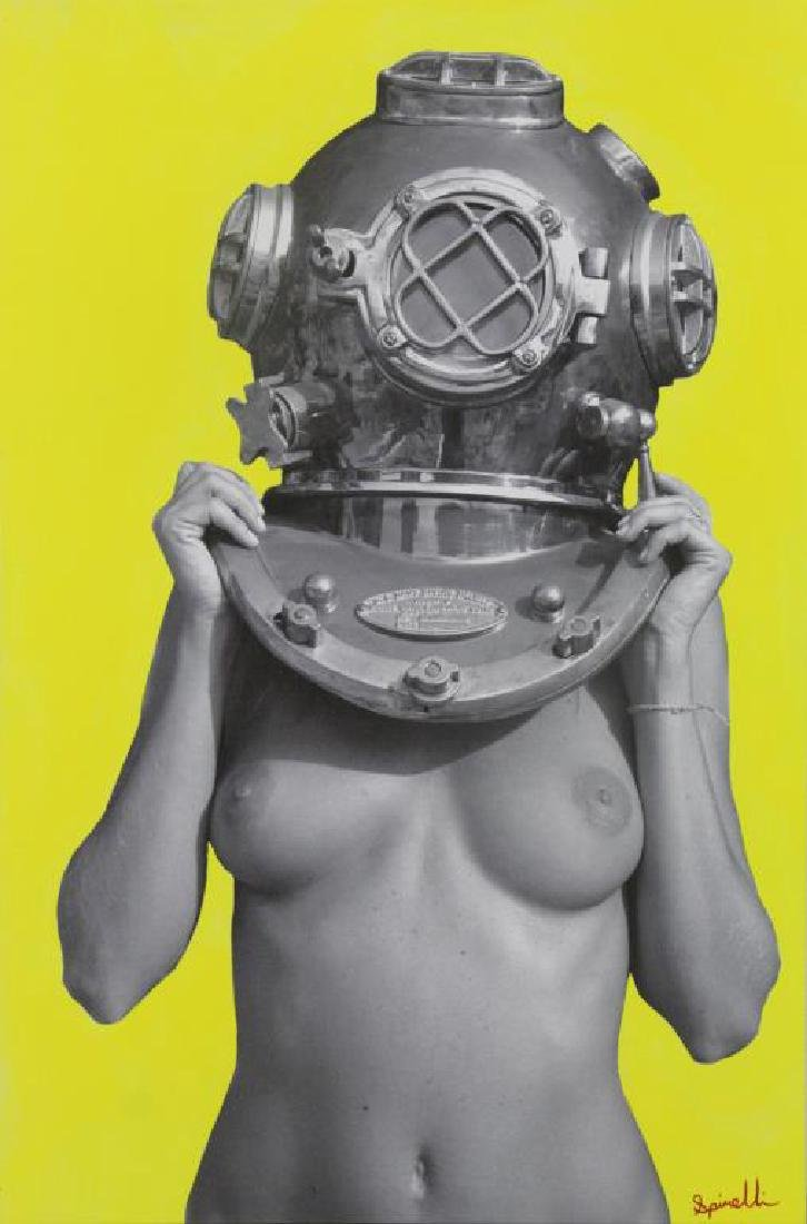 """SPINELLI, Victor. """"Diver Up Yellow Fever"""" Acrylic"""