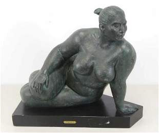 AMAYA, Armando. Bronze. Seated Nude.