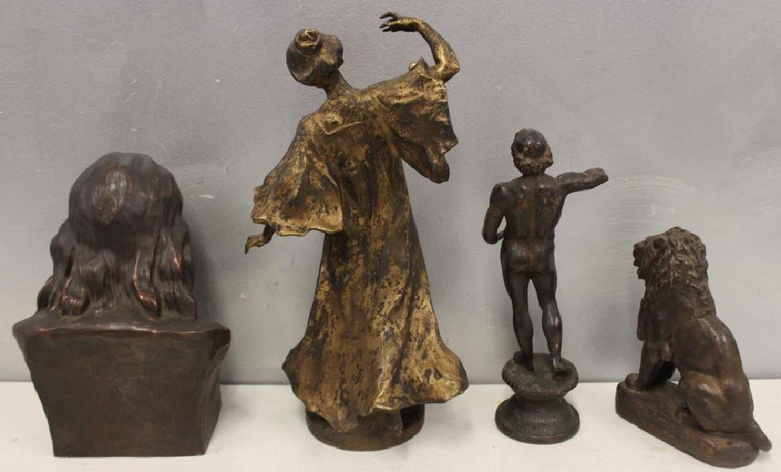Grouping Of Antique Bronze Sculptures . - 7