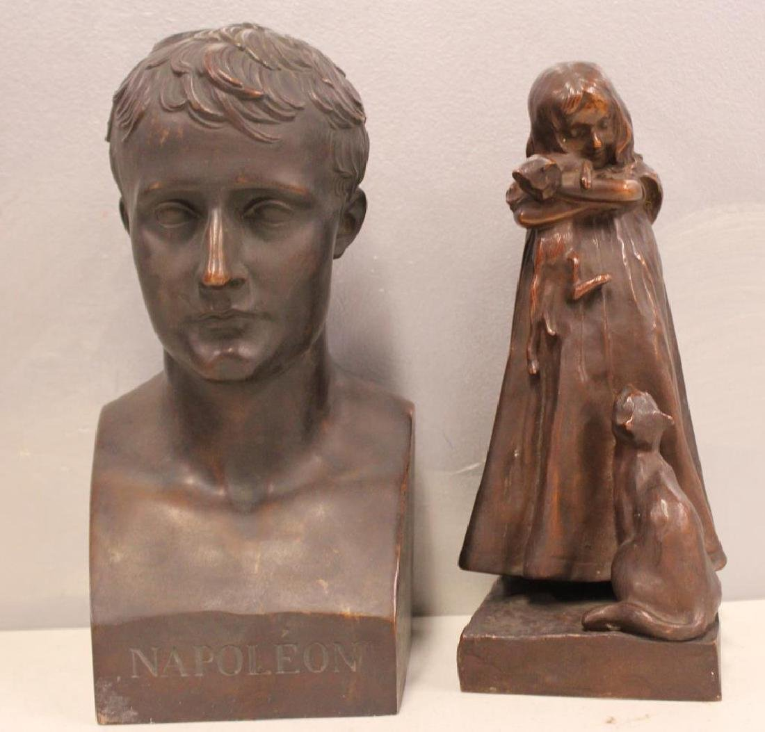 2 Henry Bonnard Foundry Bronze Sculptures .