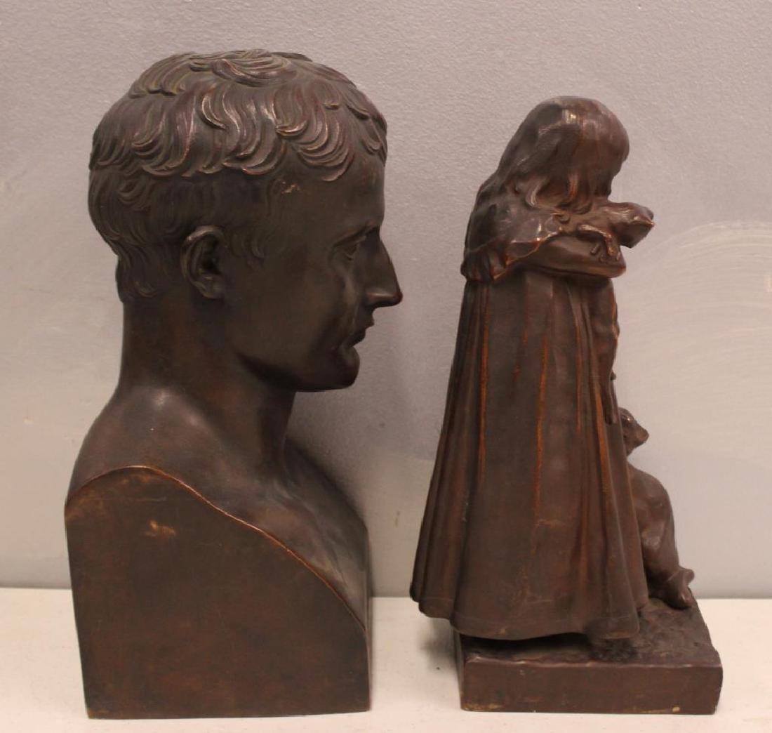 2 Henry Bonnard Foundry Bronze Sculptures . - 2