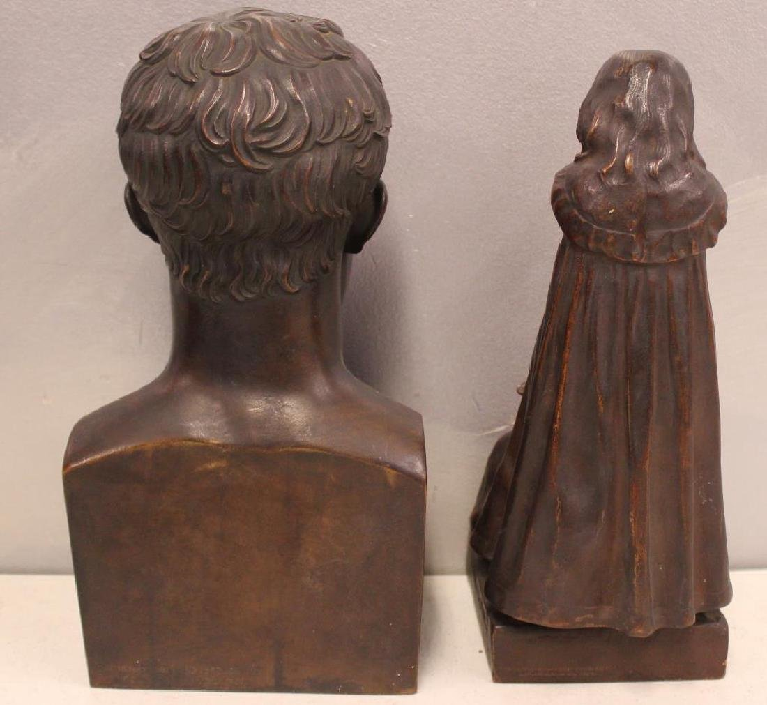 2 Henry Bonnard Foundry Bronze Sculptures . - 3