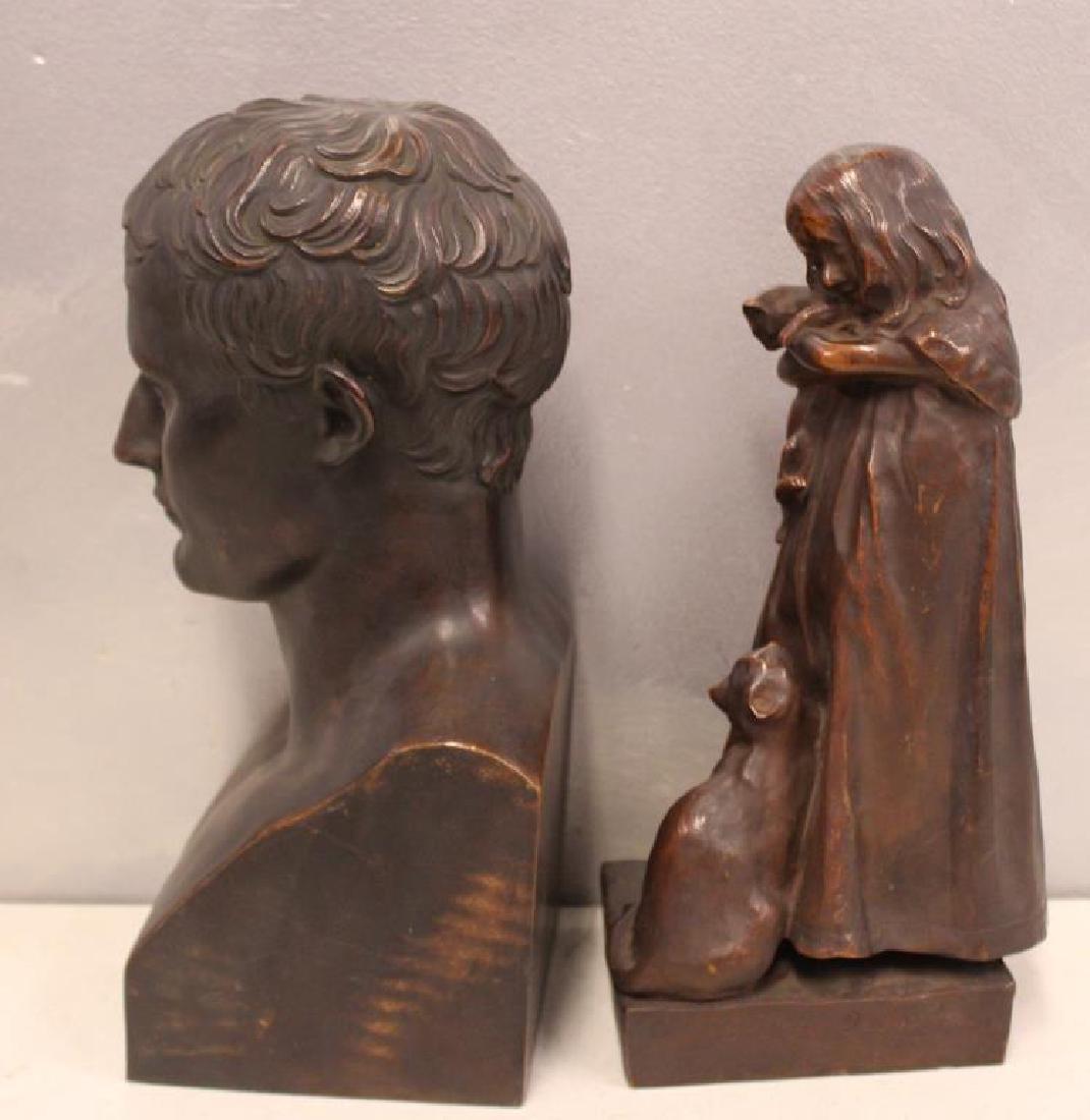 2 Henry Bonnard Foundry Bronze Sculptures . - 4