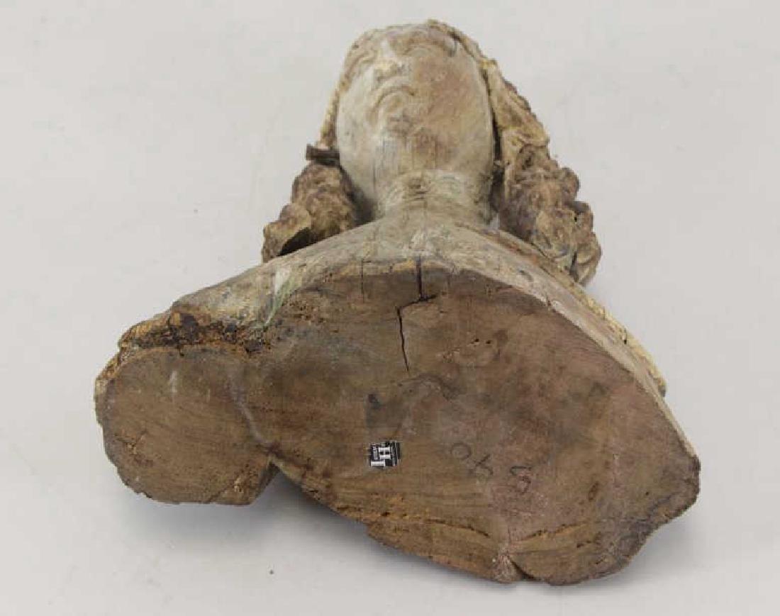 16th C.  German Carved Wood Bust. - 10