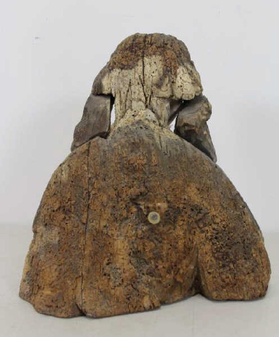 16th C.  German Carved Wood Bust. - 5