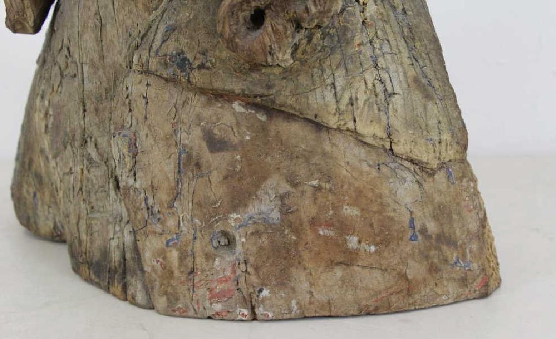 16th C.  German Carved Wood Bust. - 8